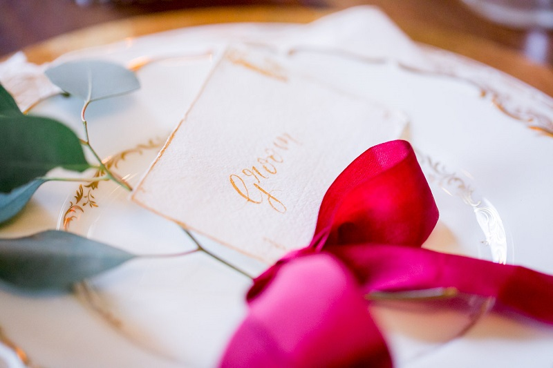 Groom wedding place setting