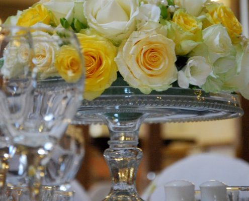 Vintage Glass Cake Stand Hire