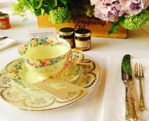 Vintage hight tea place setting