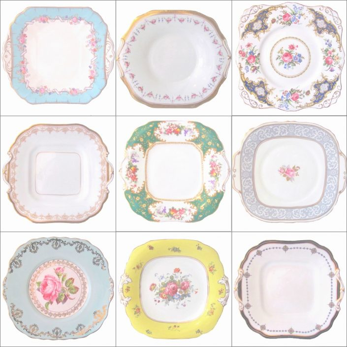 Vintage Serving Plate Hire Collection
