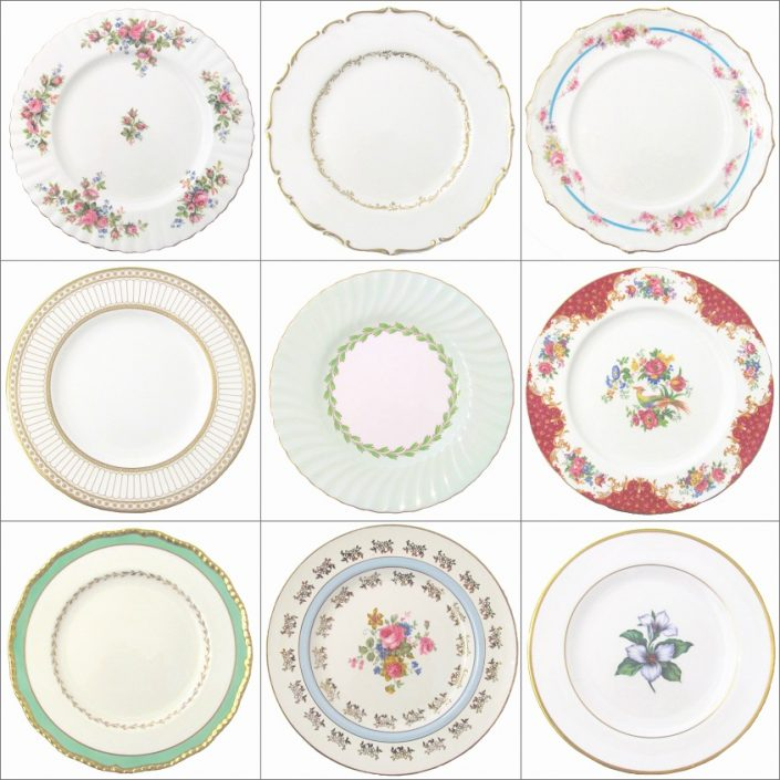 Vintage Dessert Plate Hire
