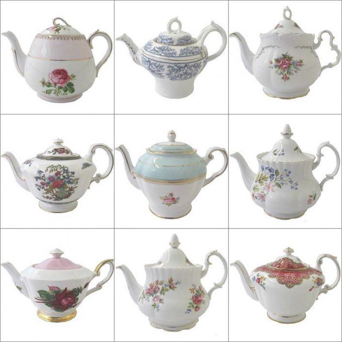 Vintage Teapot Hire Collection