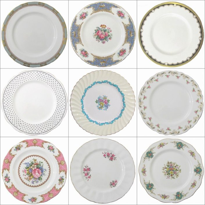 Vintage Dinner Plate Hire Collection