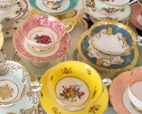 vintage teacups for hire