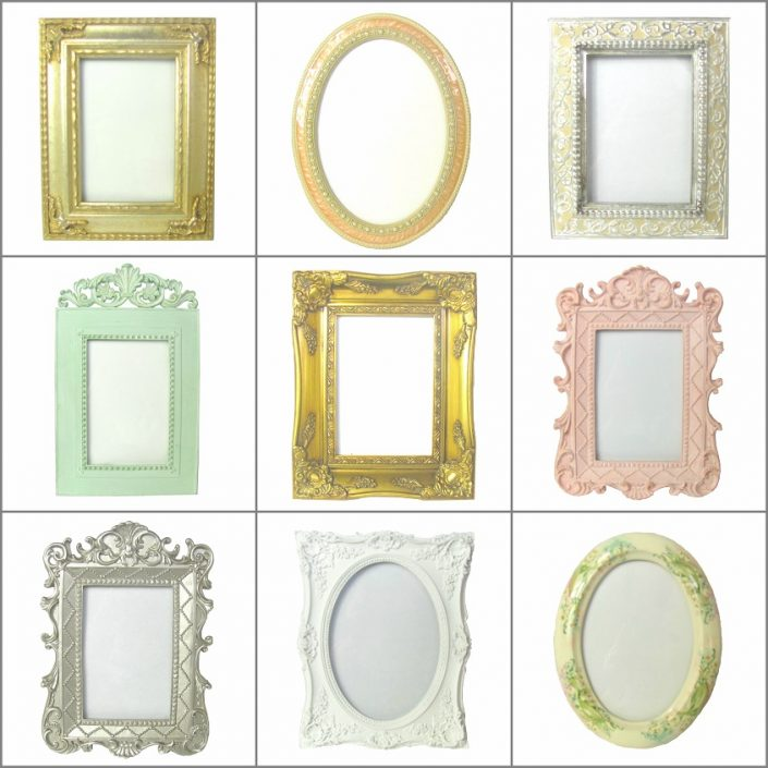 Picture frame hire for weddings