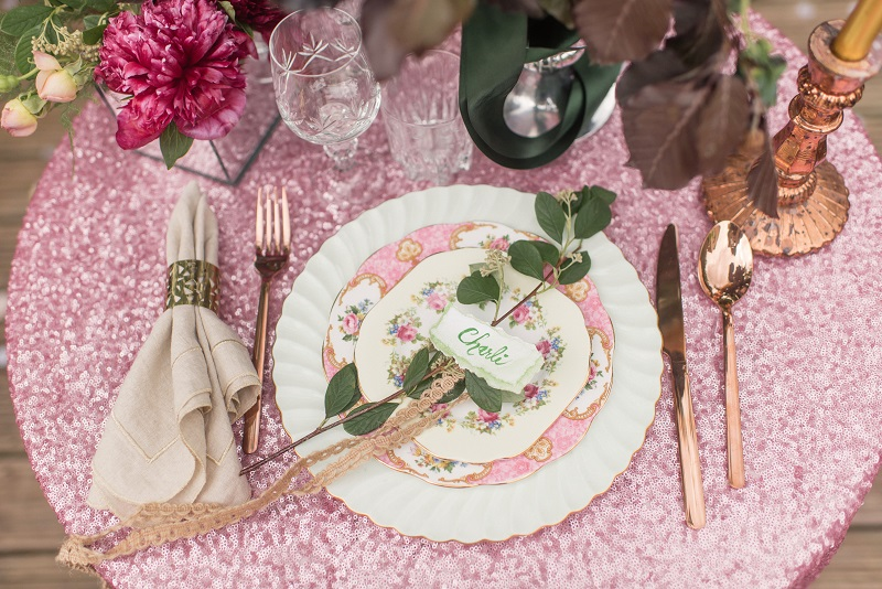 Modern styled vintage wedding