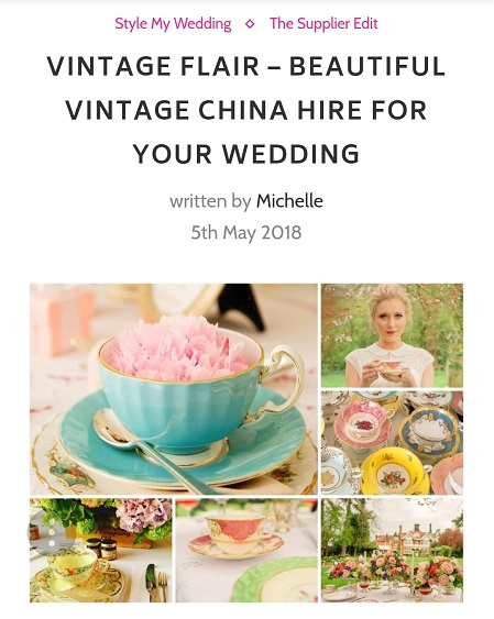 Vintage Flair featured in Girl Gets Wed Blog