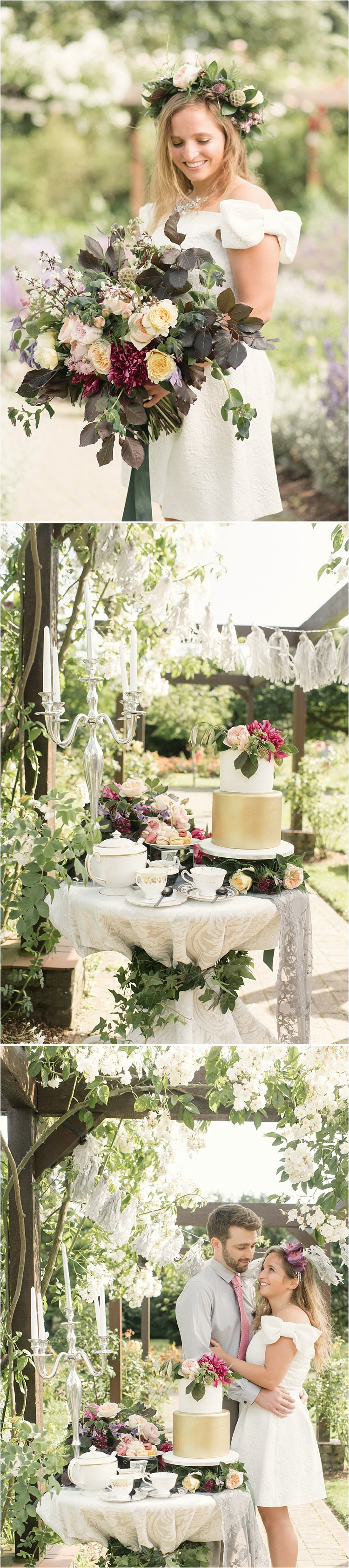 Vintage crockery hire for London urban wedding