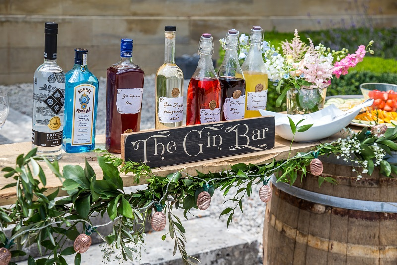wedding gin bar