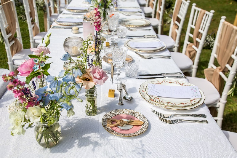 Vintage crockery hire for French wedding