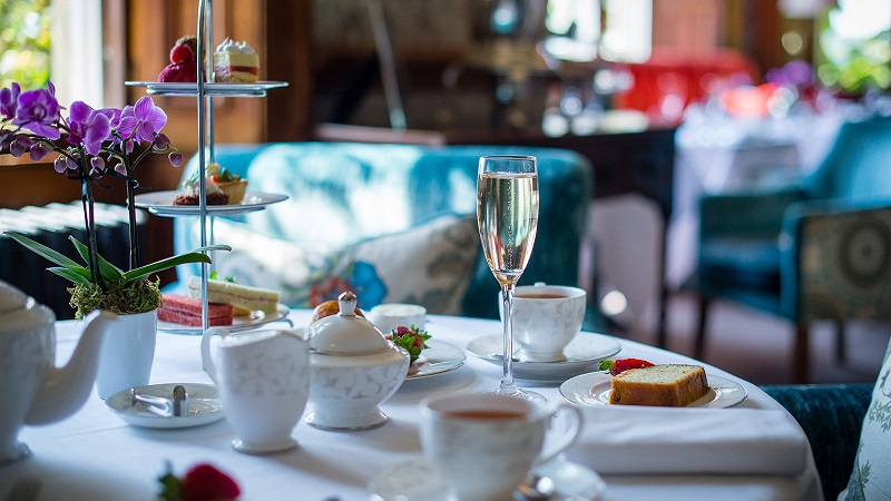 sparkling afternoon tea at South Lodge